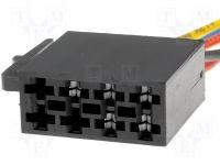 Konektor ISO - volné dráty do auta napájecí část