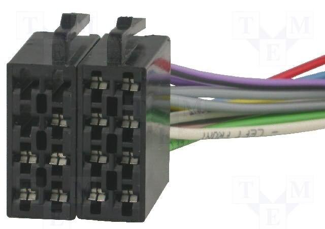 Konektor ISO - volné dráty do auta 4CARMEDIA - Autoradia-Hifi.cz