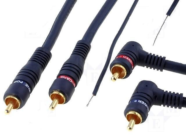 Signálový kabel k propojení autorádia a zesilovače 4CARMEDIA - Autoradia-Hifi.cz