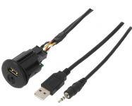 Vstup USB a AUX s kabelem pro vozy Nissan