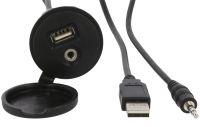 Montážní vstup USB a AUX s krytkou a kabelem 4CARMEDIA - Autoradia-Hifi.cz