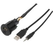Vstup USB a AUX s kabelem